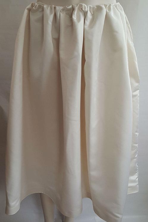 Ivory Satin Midi Skirt