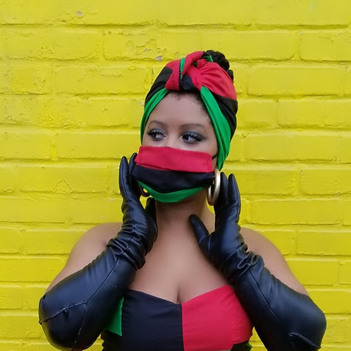 Juneteenth headwrap and mask set!