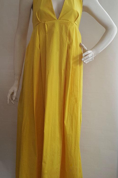 Yellow Halter Maxi Dress