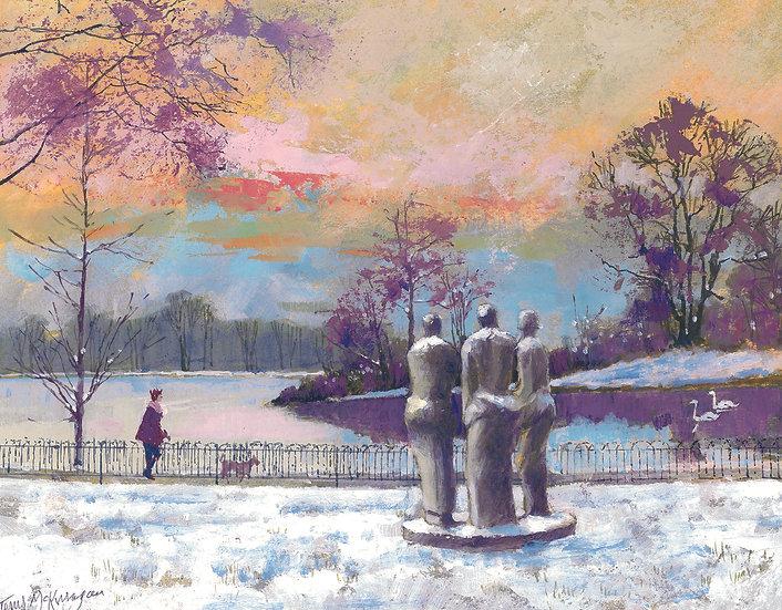 BT4 Three Standing Figures, Battersea Park
