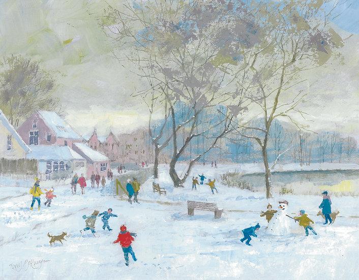 BN2 Barnes Pond, Christmas Scene