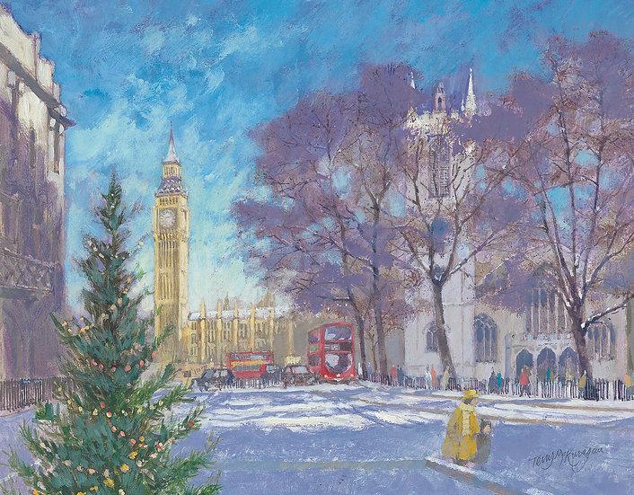 CL24 Big Ben through Parliament Square