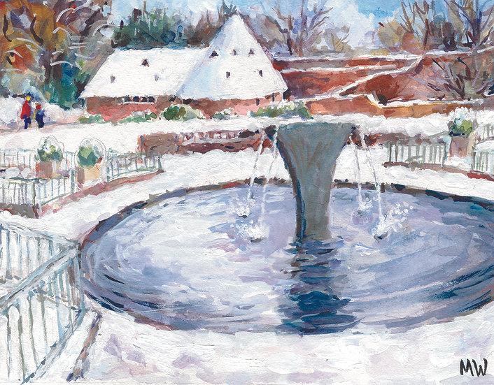 HO16 Iris Fountain and Ice House,  Holland Park