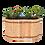 Holz Hochbeet aus Lärchenholz der Firma Timberra aus Österreich - EasyRoll - Höhe 60/80cm - oval oder rund