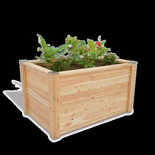 Holz Hochbeet aus Lärchenholz der Firma Timberra aus Österreich - EasyQuadro