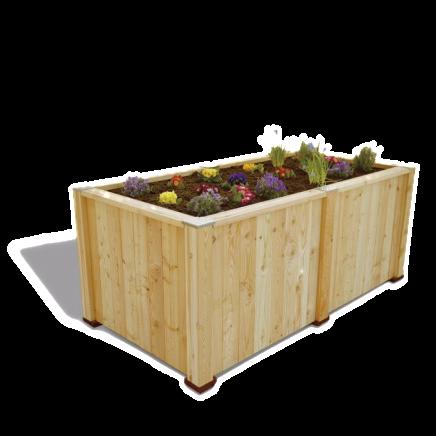 Holz Hochbeet aus Lärchenholz der Firma Timberra aus Österreich - Concordia Basic mit Erweiterungsmodul