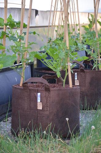 Root Pouch - Pflanzentasche mit Tragegriff - 39 Liter - braun