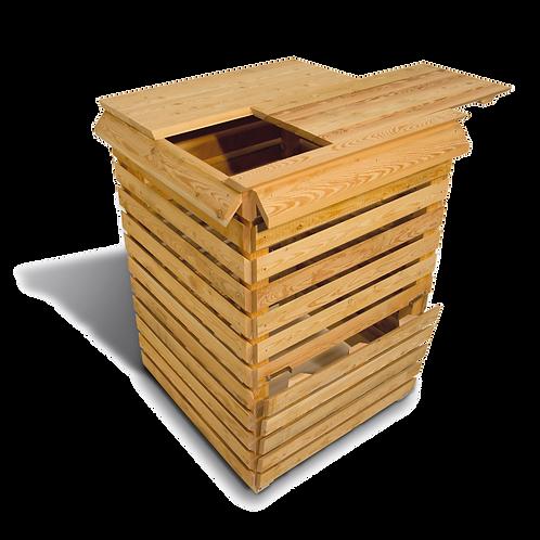 Holz Komposter aus Lärchenholz der Firma Timberra aus Österreich - EasyKompo