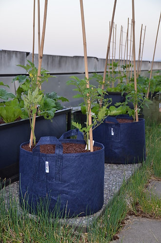 Root Pouch - Pflanzentasche mit Tragegriff - 39 Liter - blau