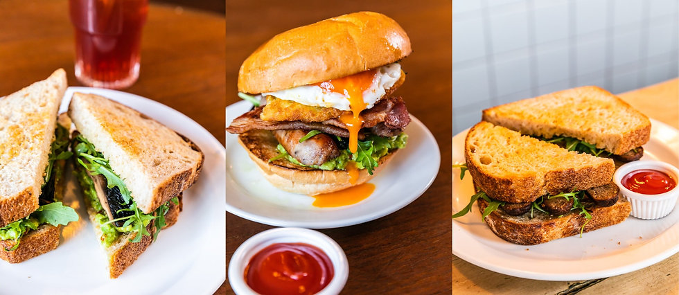The Breakhouse Cafe breakfast sandwiches