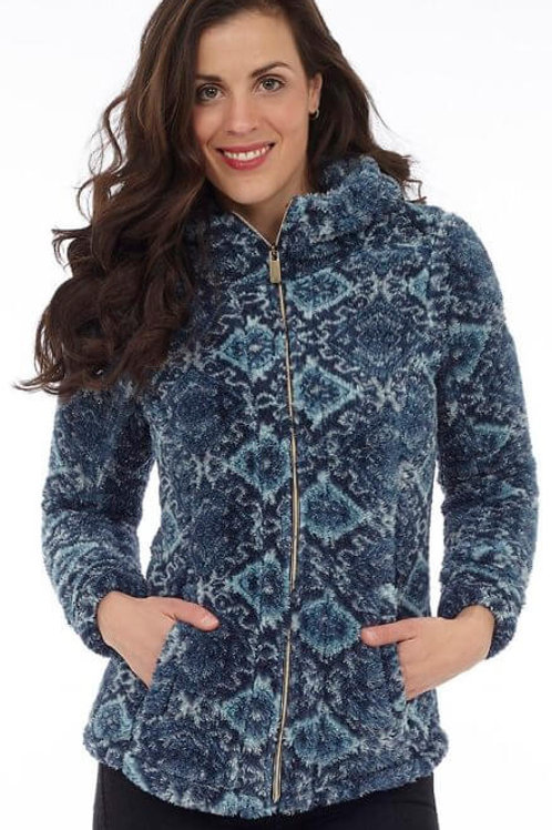 Blue Adirondack Fleece Full Zip Jacket