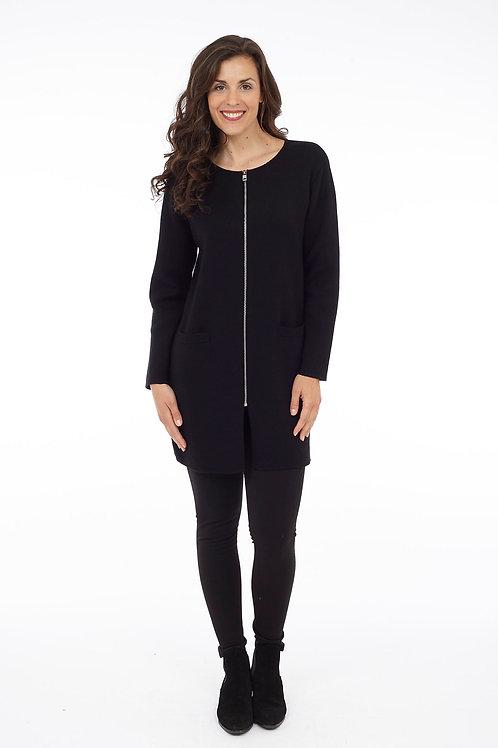 Black Long Sleeve Zip Jacket