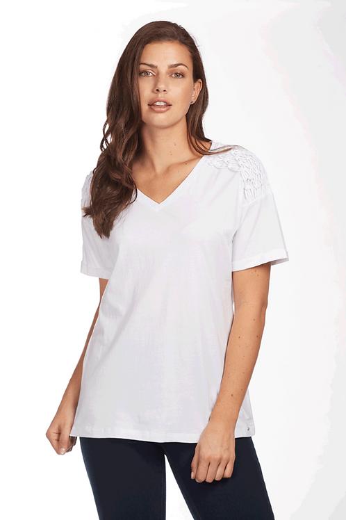 White Macrame Short Sleeve