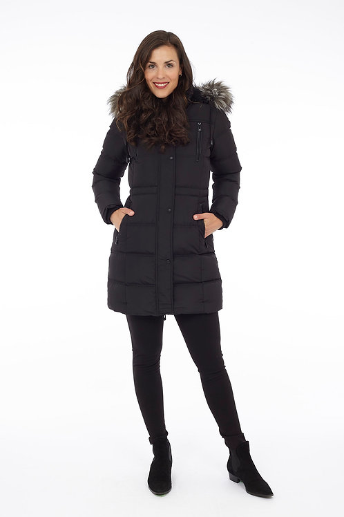 Black Puffer with removable hood