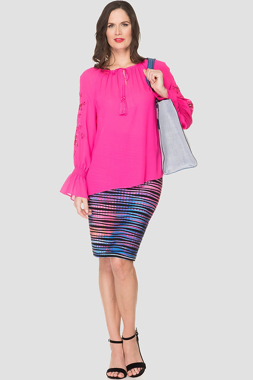 Multi Colored Pencil Skirt