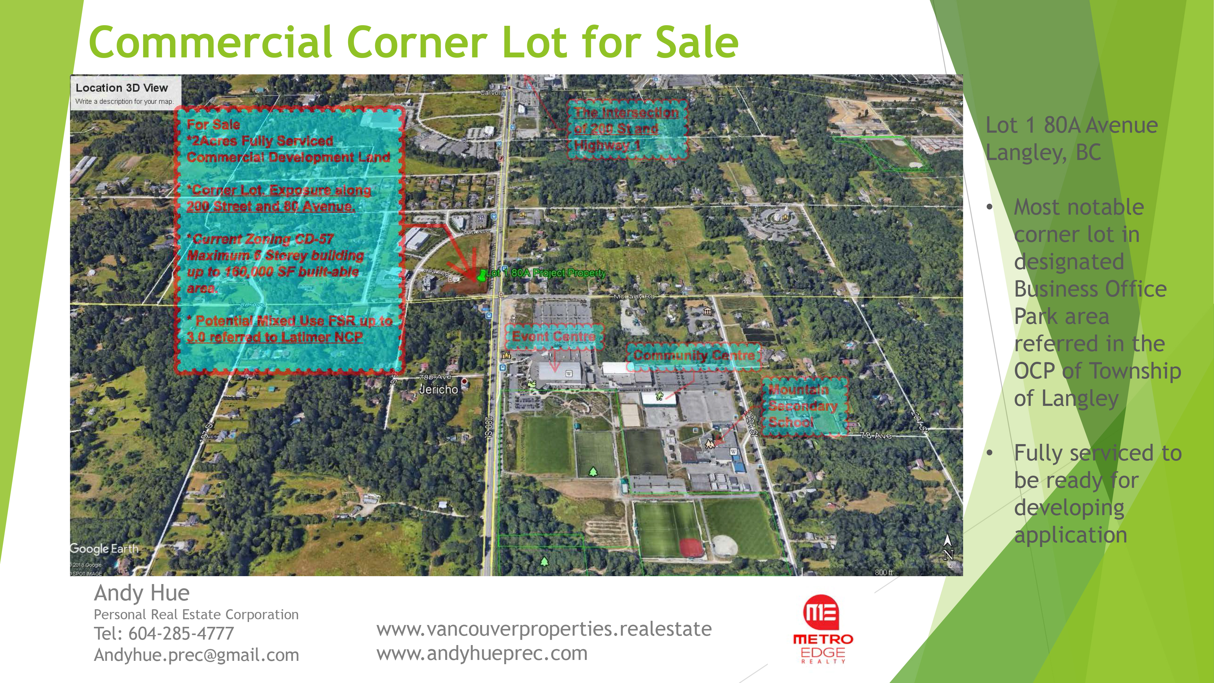 Commercial Corner Lot for Sale 19-1