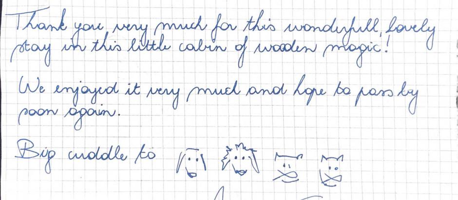 Handwritten note-Pomme de Pin aout 2018