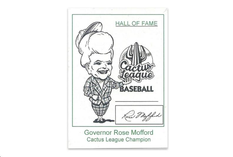 Rose Mofford AZ Governor Baseball Card