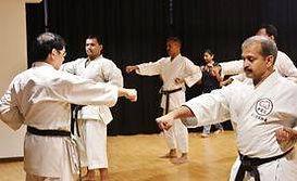 Karate training under Hanshi Katsutaka Tanaka