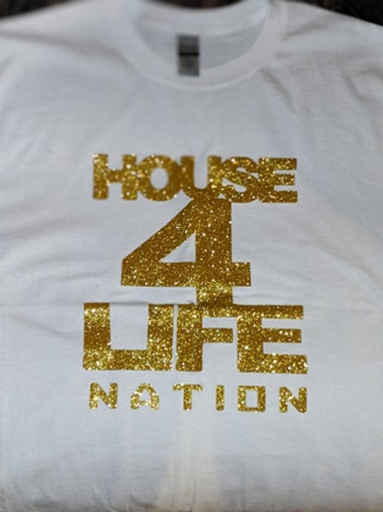 House 4 Life Shirt (White & Gold)