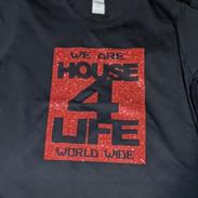 HOUSE 4 LIFE SHIRT BLACK & RED