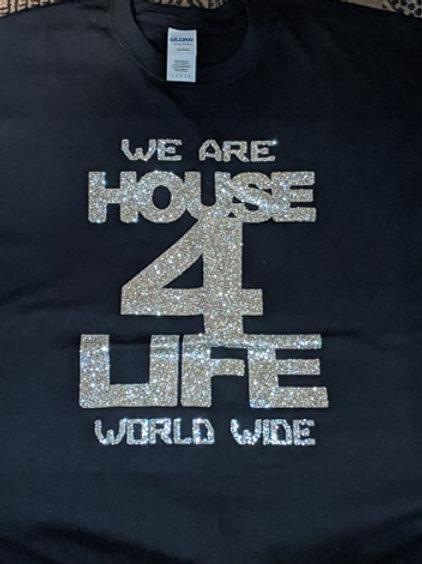 House 4 Life Shirt (Black & Silver)