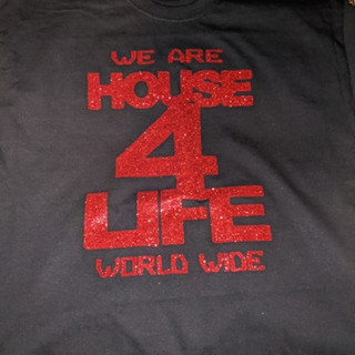 HOUSE 4 LIFE SHIRT RED & BLACK