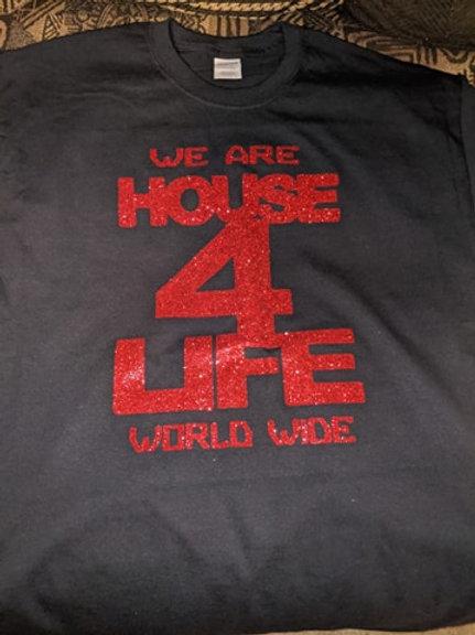 House 4 Life Shirt (Black & Red)