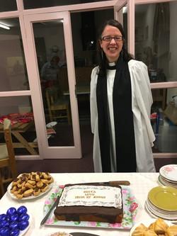 A cake for our Revd Becca