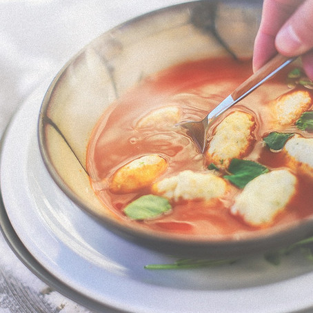 FISH DUMPLINGS IN HOT BROTH