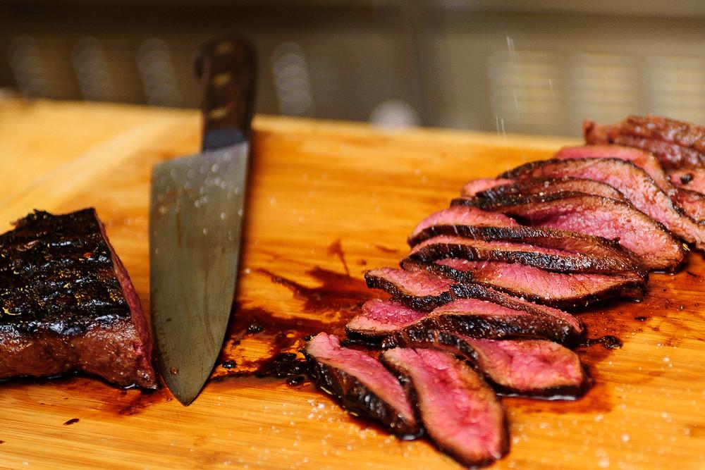 Slice that rare/medium rare meat.