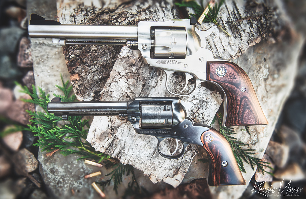 Stainless steel Ruger Single Six Convertible compared to Blued Ruger Bearcat.