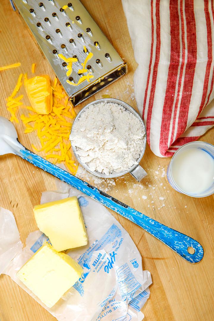 Some ingredients for biscuits.©Krissie Mason