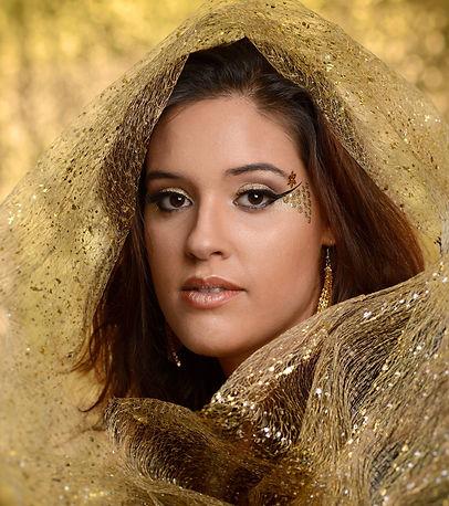 Goud glamour feestelijke make-up