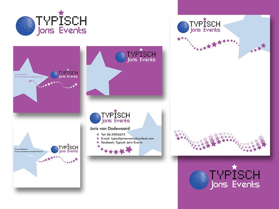 Grafisch ontwerp evenementenbedrijf