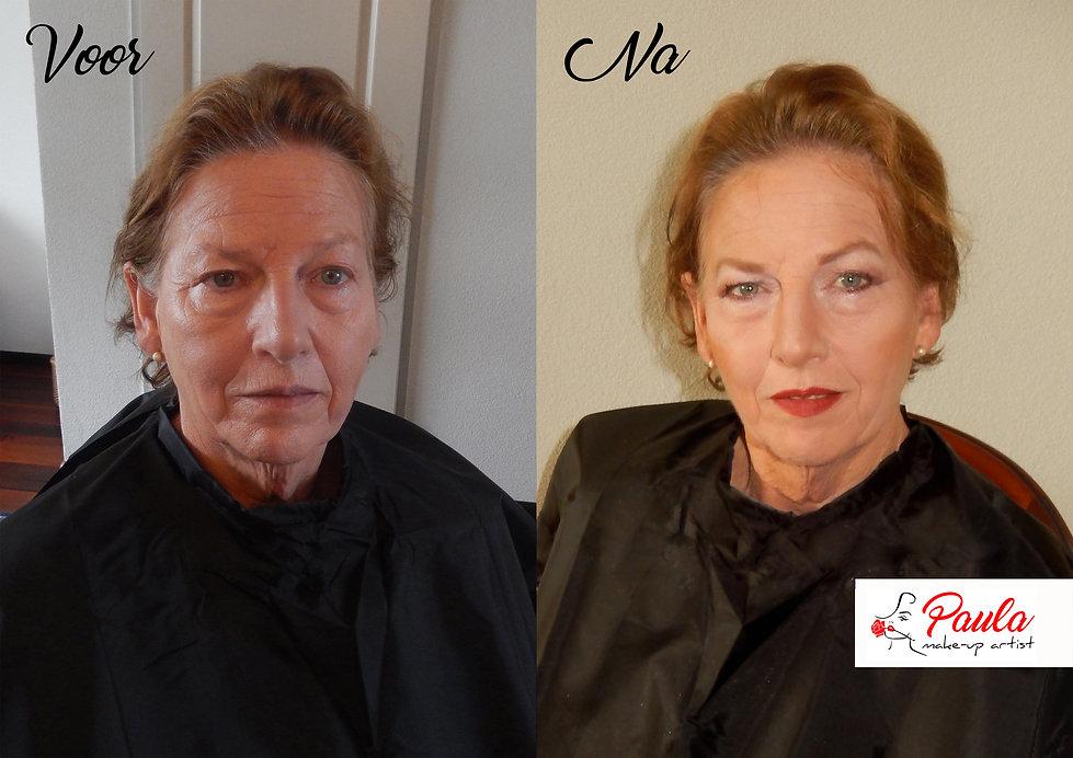 Make-up voor en na