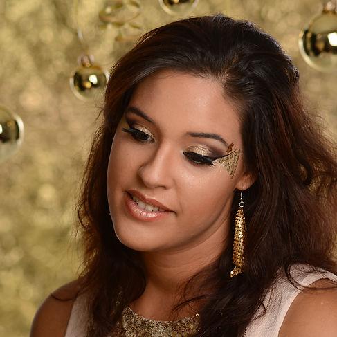 Goud glamour make-up