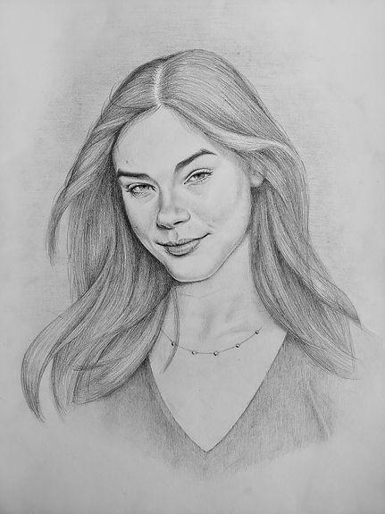 Portrettekening Sanne