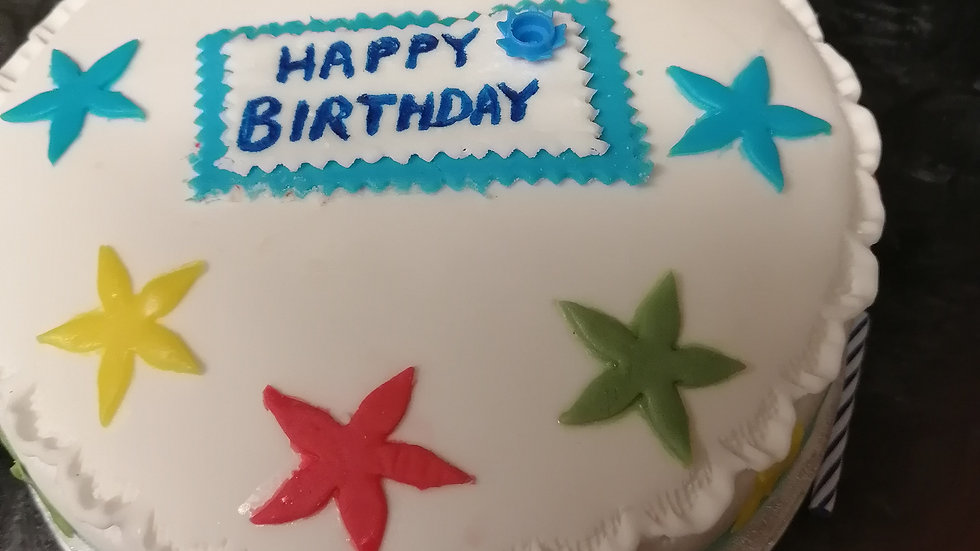 Birthday Stars Rich Orchard Fruitcake