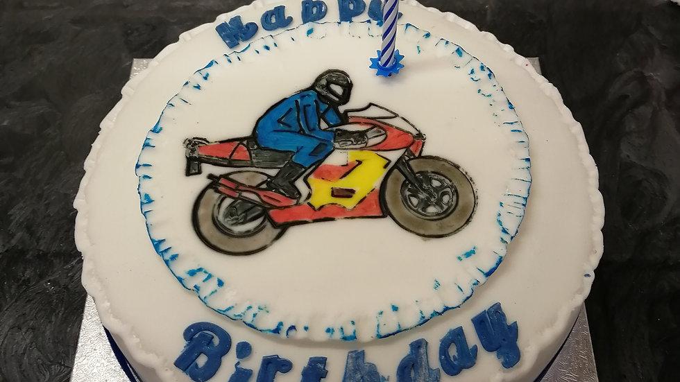 Motorbike Plaque Cake