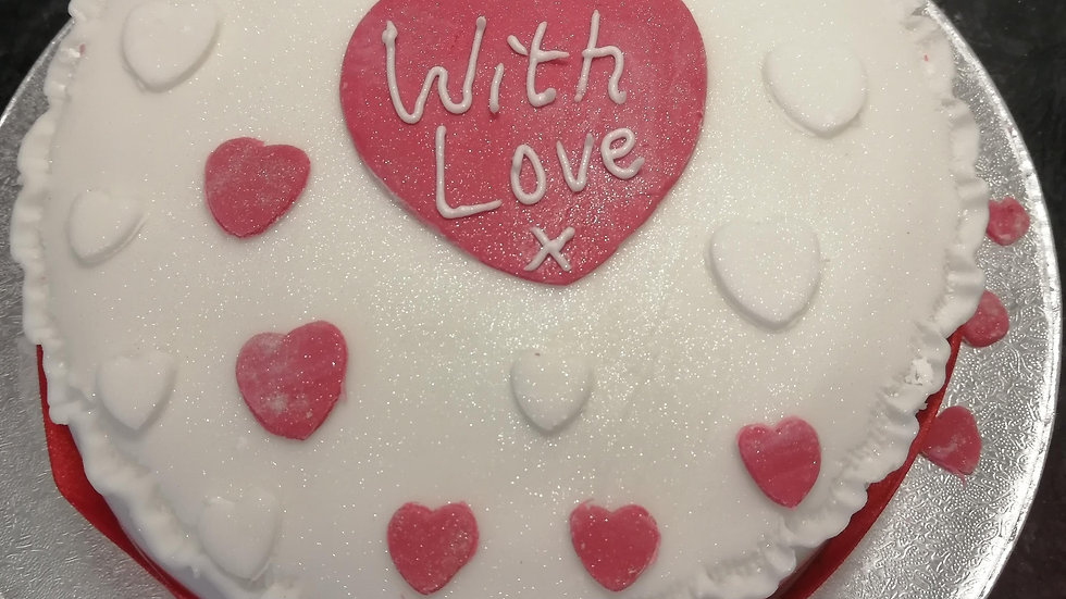 Love Hearts Rich Orchard Fruitcake