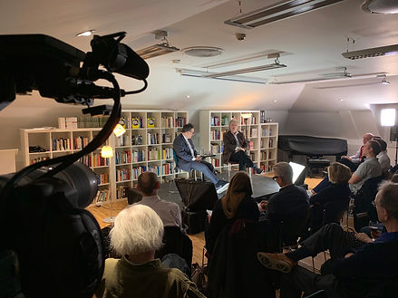 Filming a live event for Faber with Tom Stoppard and Patrick Marber