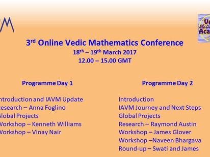 3rd Online Vedic Mathematics Conference 2017