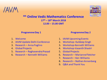 4th Online Vedic Mathematics Conference 2018