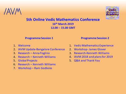 5th Online Vedic Mathematics Conference 2019