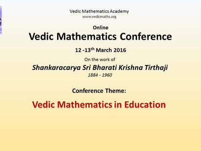 2nd Online Vedic Mathematics Conference 2016