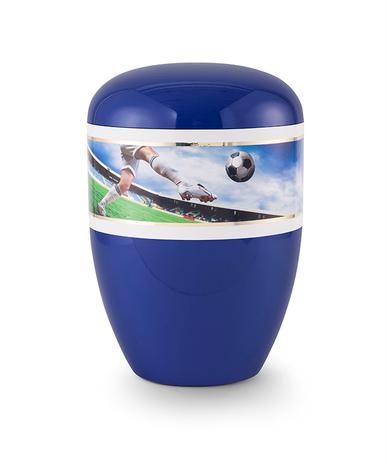 Enkel med fotbal blå