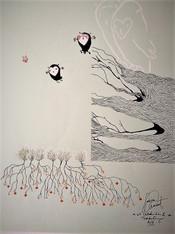 Sabien Clement, originele illustrtaie uit het boek Uilskuiken en Takkeling