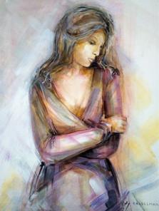 Lily Casselman, z.t., acryl op houten paneel, 40 x 50