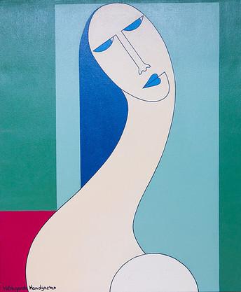 Hildegarde Handsaeme, z.t.,  acryl op canvas 60x50